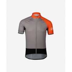 POC Essential Road Jersey - Granite Grey/Zink Orange - 2020
