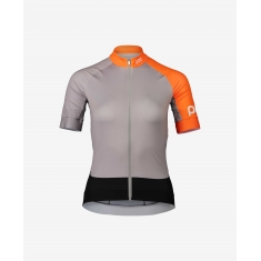 POC Essential Road W's Jersey - Granite Grey/Zink Orange - 2020