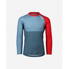 POC MTB Pure LS Jersey - Calcite Blue/Prismane Red - 2020