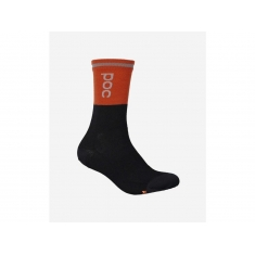 POC Thermal Sock - Zink Orange/Uranium Black - 2020