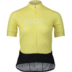 POC Essential Road Logo Jersey - Lt Sulfur Yellow/Sulfur Yellow