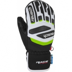 Reusch Prime Race R-TEX XT Junior Mitten - black/white/neon green