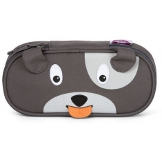 Dětský penál Affenzahn Pencil Case Dog David - grey