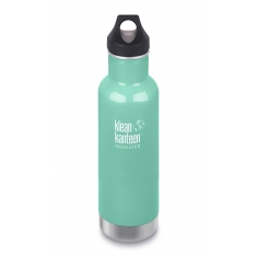 Nerezová termolahev Klean Kanteen Insulated Classic w/Loop Cap - sea crest 592 ml