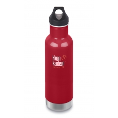 Nerezová termolahev Klean Kanteen Insulated Classic w/Loop Cap - mineral red 592 ml