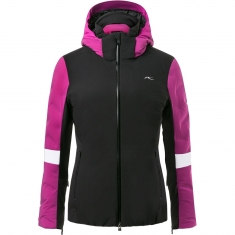 Kjus Women Formula Jacket - black-fruity pink - 2020