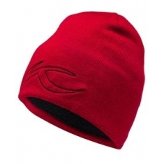 Kjus Unisex Side Logo Beanie - currant red - 2020