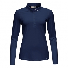 Kjus Women Scotscraig Polo L/S - atlanta blue - 2020