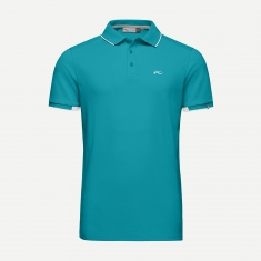 Kjus Men Stan Polo S/S (front logo) - surfers blue - 2020
