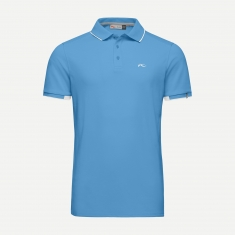 Kjus Men Stan Polo S/S (front logo) - quiet harbor - 2020