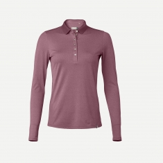 Kjus Women Sofia Polo L/S - rose wine melange - 2020