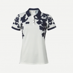 Kjus Women Enya Printed Polo S/S - white.atlanta blu - 2020