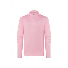 Kjus Girls Jade Half-Zip - balloon pink-wht - 2021